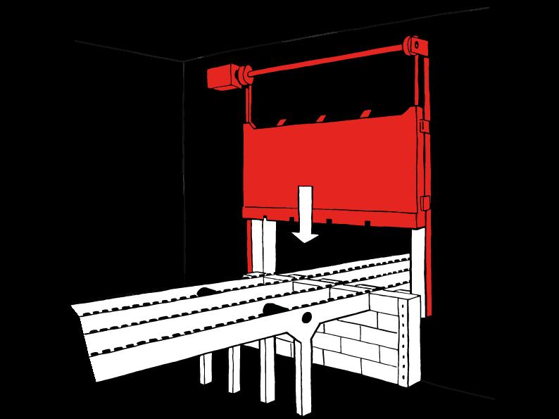 ECClos-S Brandschutzwand für Förderbänder